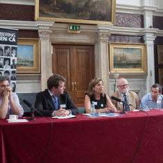 On the panel of a conference on Genocide.